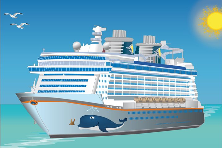 Detailed Full Vector Cruise Ship