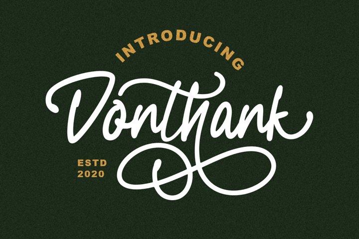 Donthank - Script Typeface