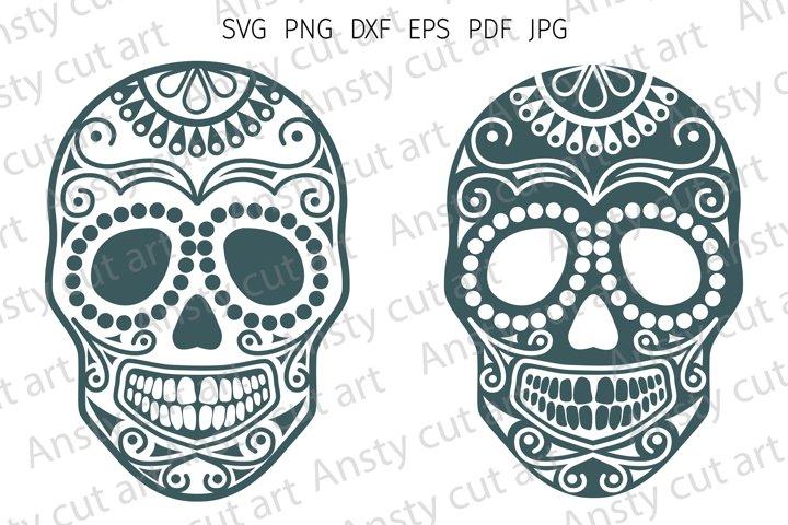 Skull svg. Sugar skulls svg cut files for Cricut. Silhouette