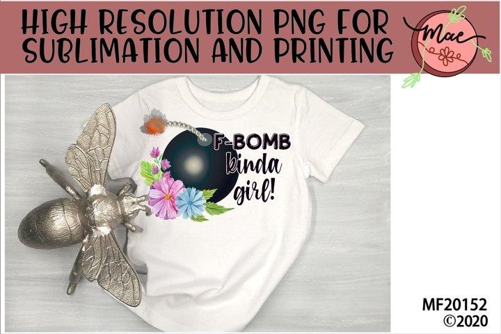 F-Bomb Girl Sublimation Design