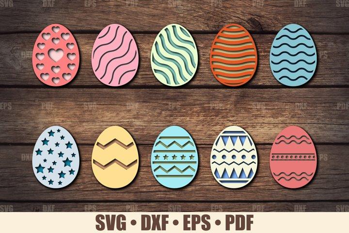 Easter Eggs SVG Bundle Glowforge Ready, SVG files for Cricut