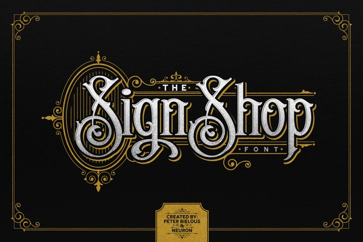 The Sign Shop Font