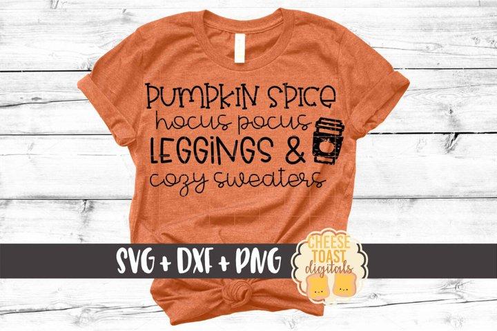 Pumpkin Spice Hocus Pocus Leggings & Cozy Sweaters SVG