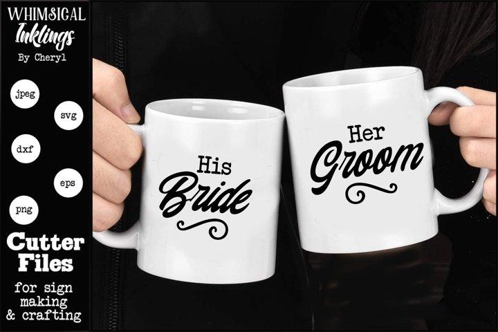 Bride And Groom SVG Set