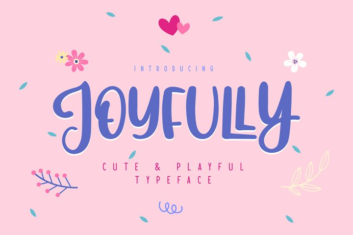Joyfully | Cute   Playful Typeface