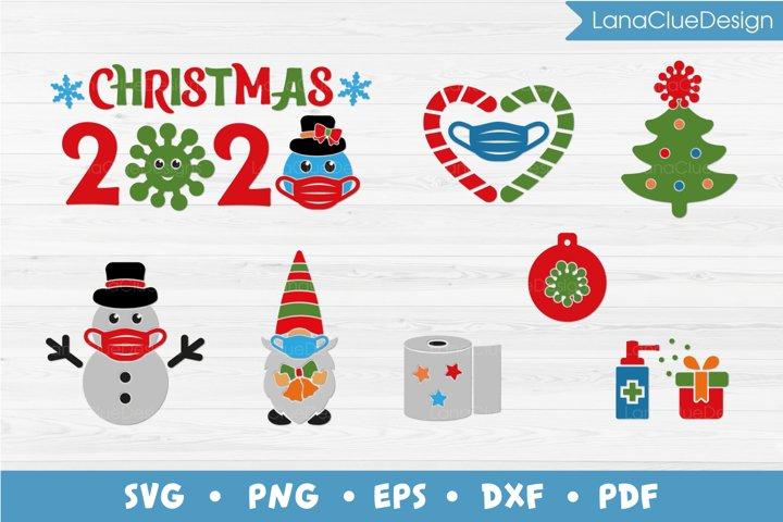 Quarantine Christmas Bundle SVG - 8 items