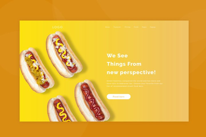 Hot Dog Hero Image Mockup #1