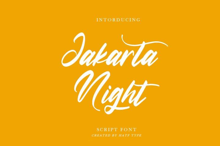 Jakarta Night - Script Font