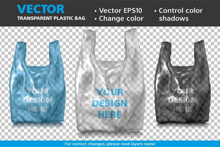 Vector Mockup Transparent Plastic Bag