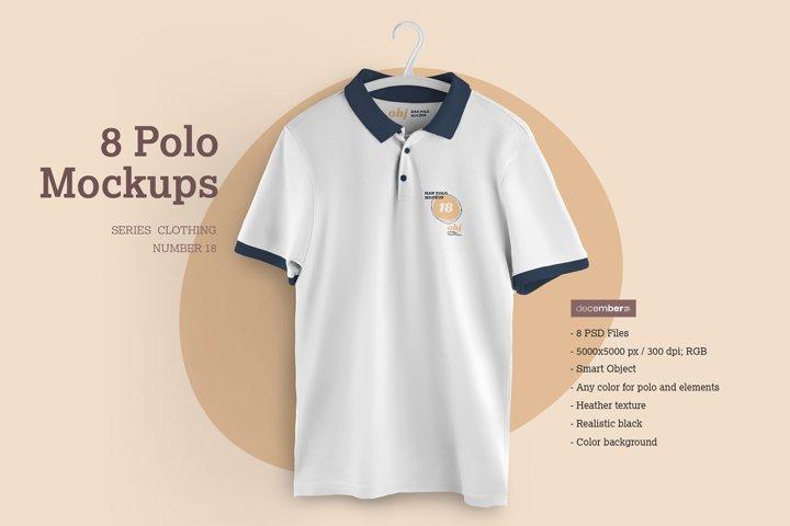 8 Polo Mockups