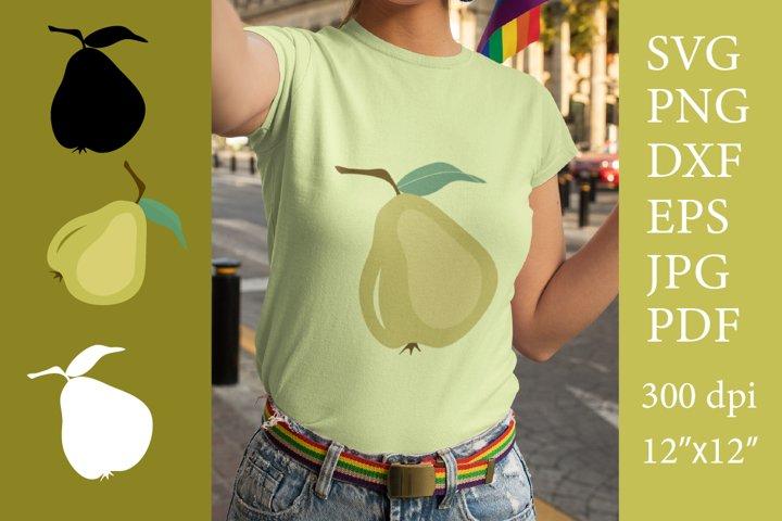 Pear SVG. Pear Cut File. Pear sublimation clipart