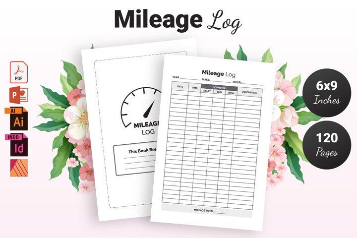 Mileage Log Book - KDP Interior
