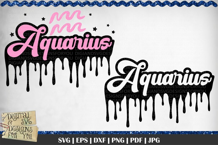 Dripping Aquarius Zodiac svg | Capricorn | Zodiac signs