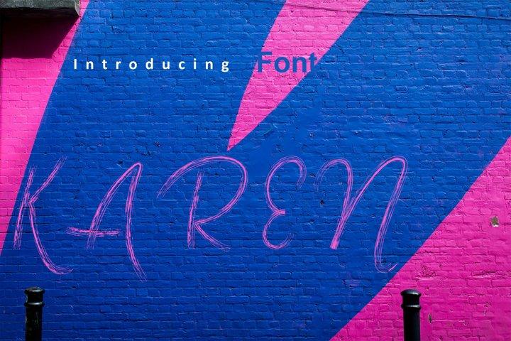 Karen Brush Font