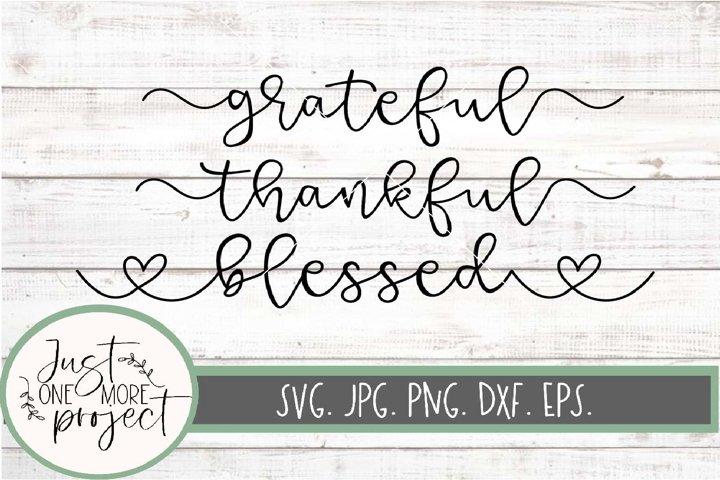 Grateful svg, Thankful svg, Blessed cut file, Fall sign svg,