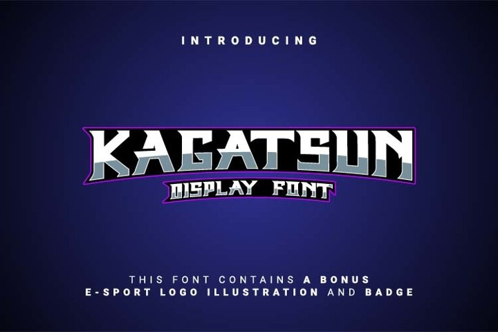 Kagatsun Display Font
