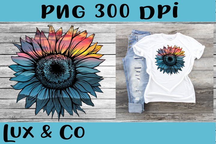 Sunflower Sunset Sublimation PNG
