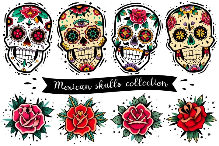 Mexican skulls collection