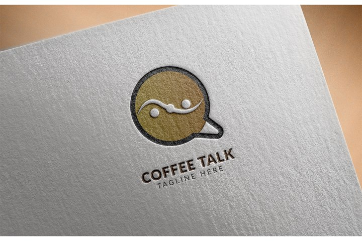 Awesome logo icon Coffee Talk creative design