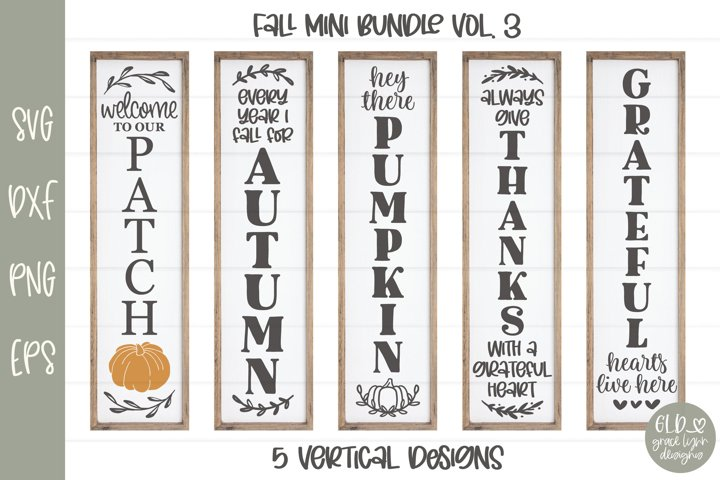 Fall Mini Bundle Vol. 3 - 5 Vertical Fall Designs