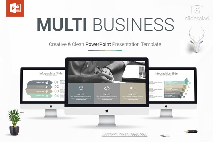 Best Multi Business PowerPoint Template