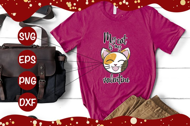 My cat is my valentine SVG