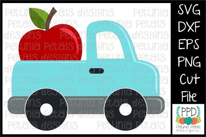 Apple Pickup Truck SVG 11296