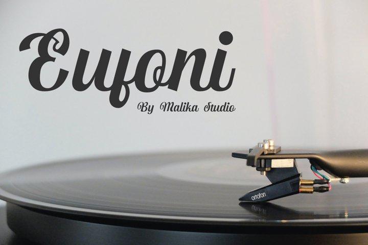 Eufoni ModernScript Typeface