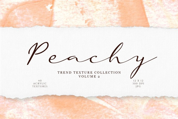 Peachy Acrylic Textures