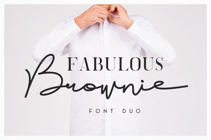 Brownie Font Duo