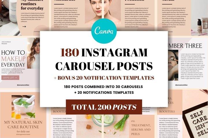 Instagram Carousel Template Bundle | Canva