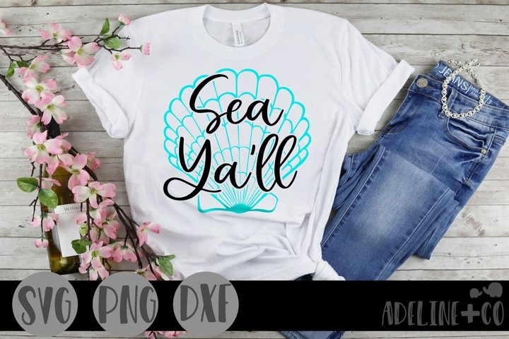 Sea yall, SVG, PNG, DXF, beach