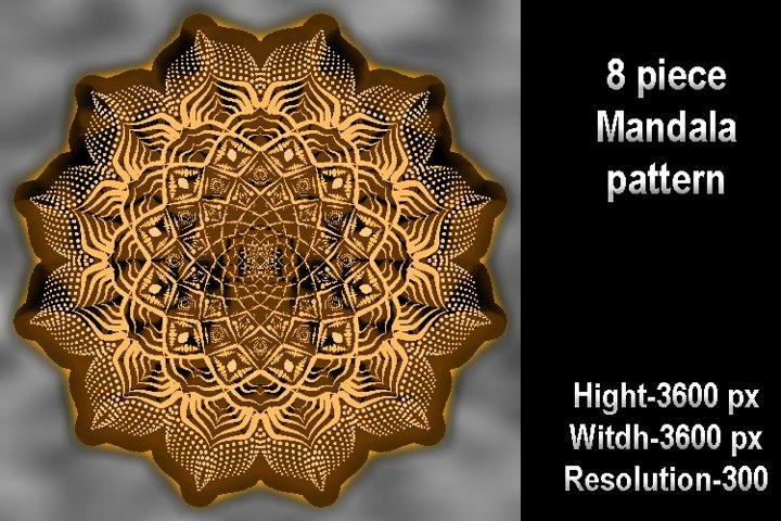 8 piece Mandala pattern