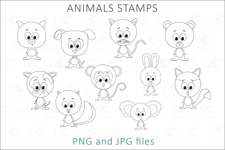 Animal Digital Stamps