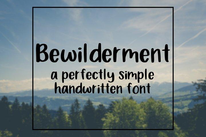 Bewilderment - Simple Handwritten Font