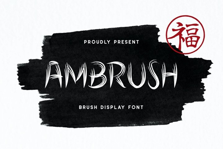 Ambrush Display Font