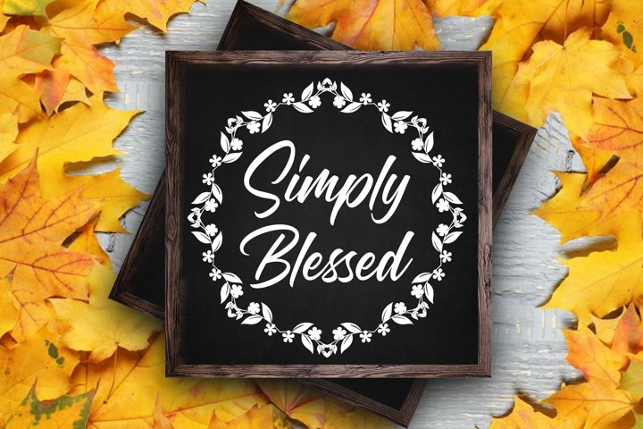 Thanksgiving svg Simply blessed svg