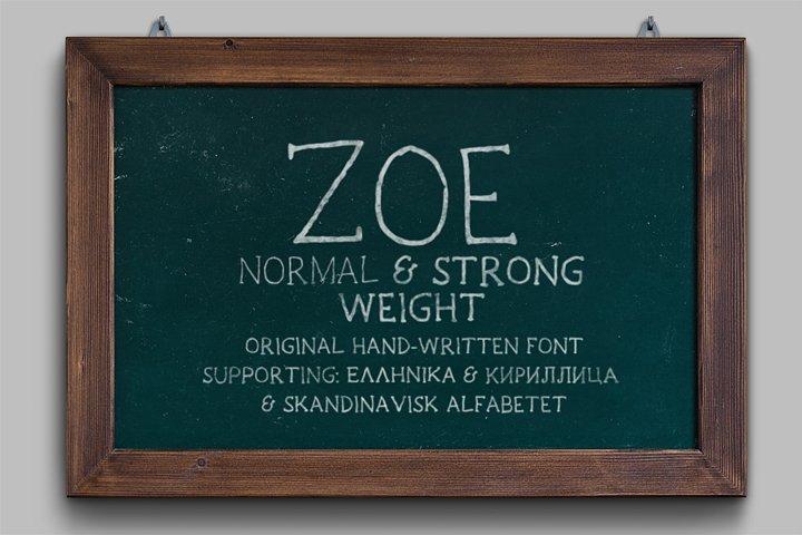 Zoe Handwritten Font