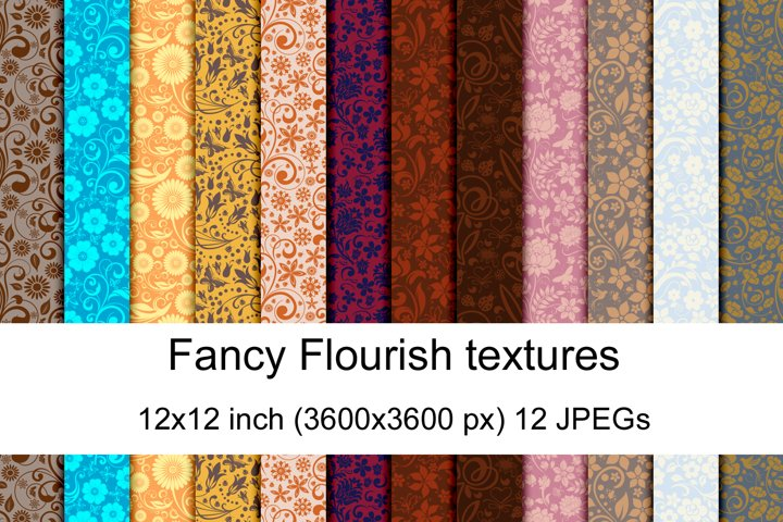 Fancy Flourish seamless textures
