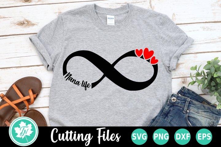 Download Infinity Love Nana Life - A family SVG Cut File (252181 ...