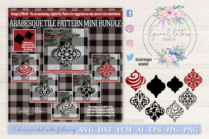 Ceramic Tile Arabesque Pattern Ornament Bundle LL20Oct11