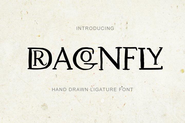 Dragonfly. Uppercase Ligature Font.