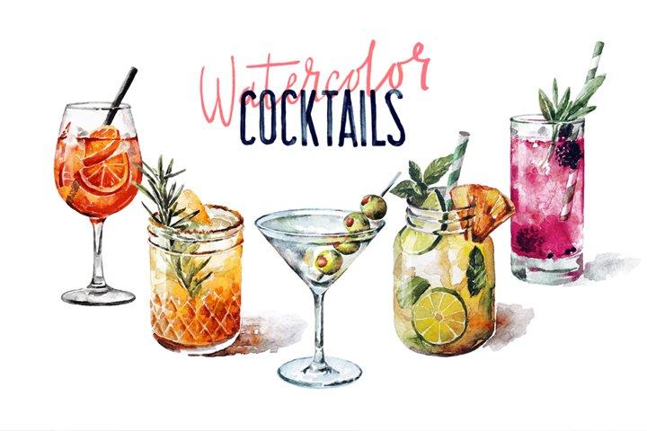 Watercolor Cocktail Set