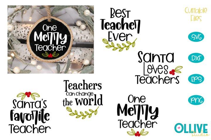 Teacher Christmas Quotes SVG Bundle
