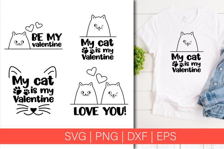 Download My Cat Is My Valentines Svg Valentine S Day Bundle 1110659 Cut Files Design Bundles
