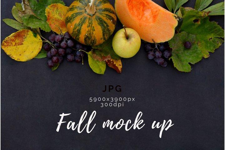 Fall Mockup. Harvest pumpkin mockup