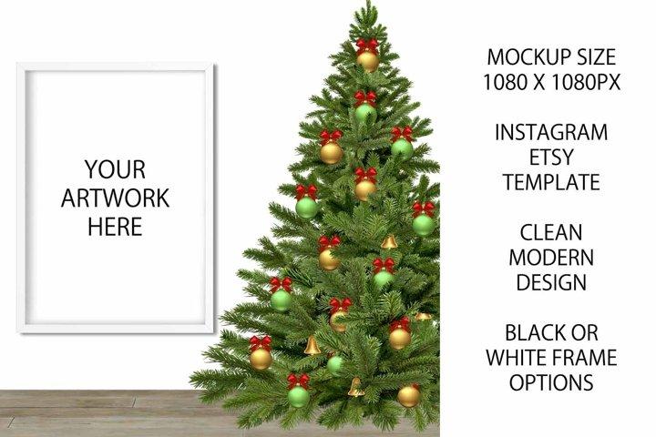 Christmas Mockup Frame for Etsy / Instagram