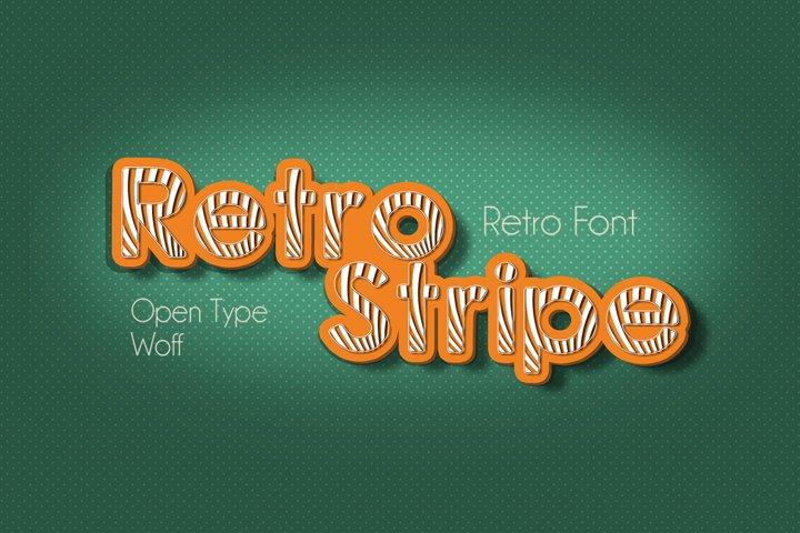 Retrostripe Font | Open Type & Woff Format example 4