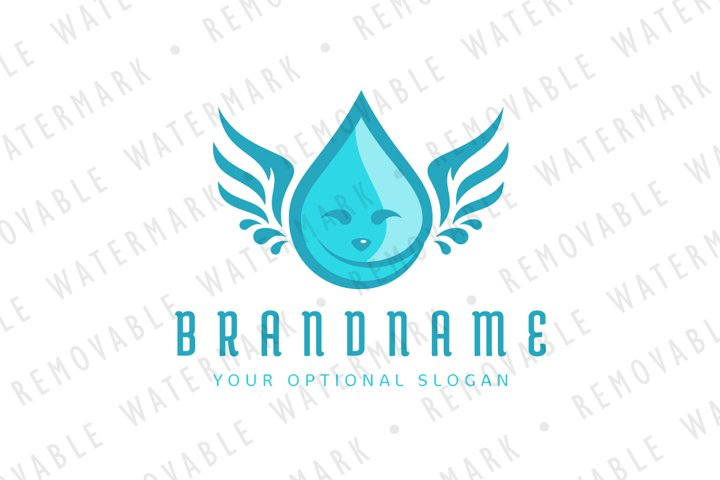 Droplet Angel Logo