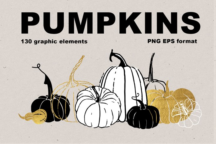 Pumpkins. Graphic collection